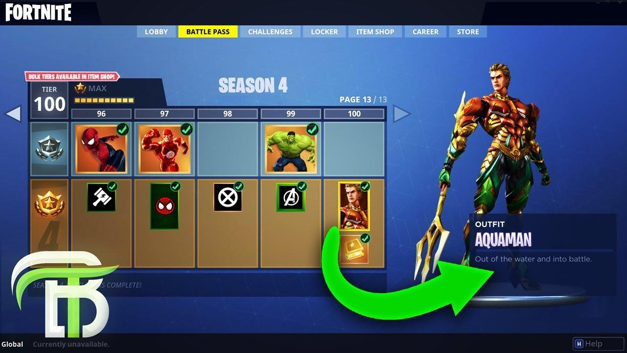 fortnite leaked skins season 4