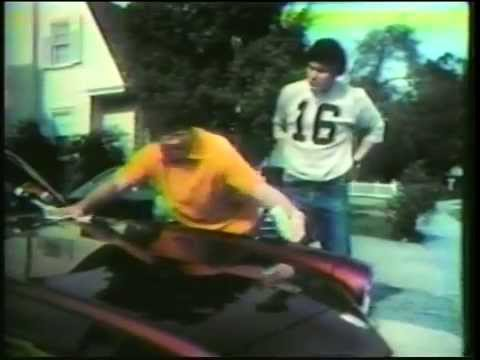 Alex Karras And Jim Plunkett In A TV Commercial