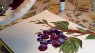 Painting Grape Vines for Karen N