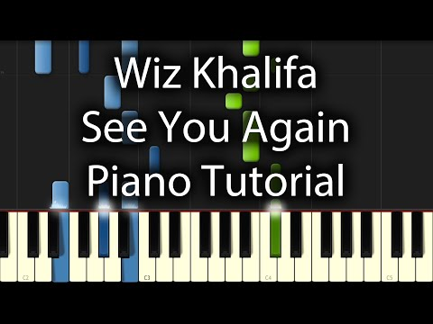 Wiz Khalifa ft Charlie Puth - See You Again Tutorial (How To Play On Piano)