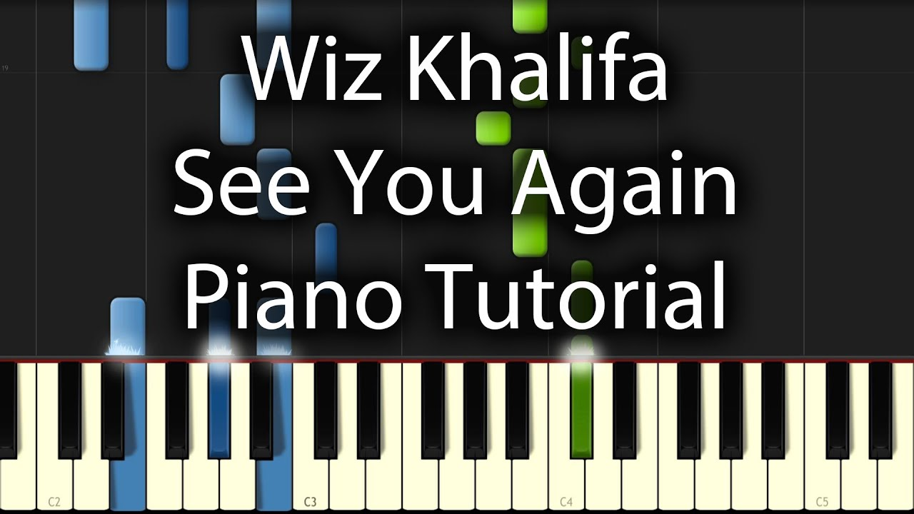 Wiz Khalifa ft Charlie Puth - See You Again Tutorial (How To Play On Piano) - YouTube