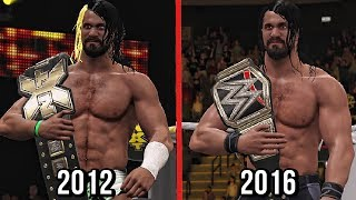 All Of Seth Rollins Title Wins In WWE! ( WWE 2K17 )