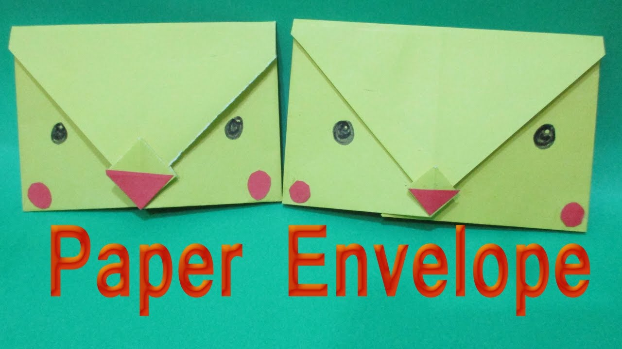 paper craft envelope how to fold origami envelope easy chick