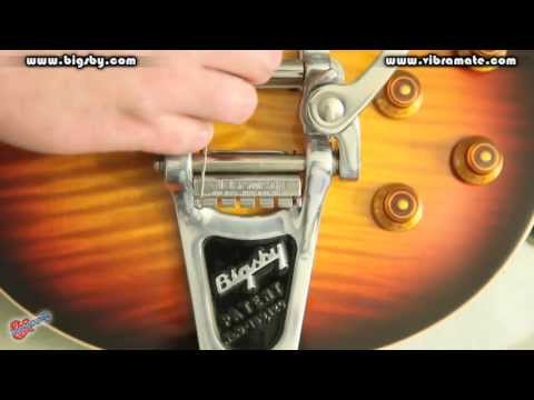 Changing Strings a Guitar with a Bigsby with a Vibrmate String Spoiler and Super Grip by Scott Sill