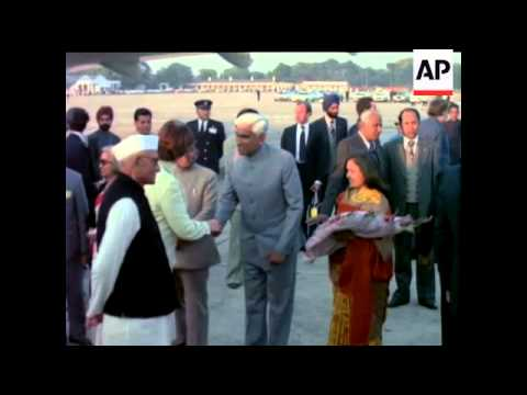 BRITISH PRIME MINISTER IN NEW DELHI - NO SOUND - COLOUR