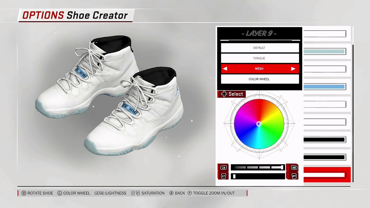 NBA 2K18 Shoe Creator - Air Jordan 11