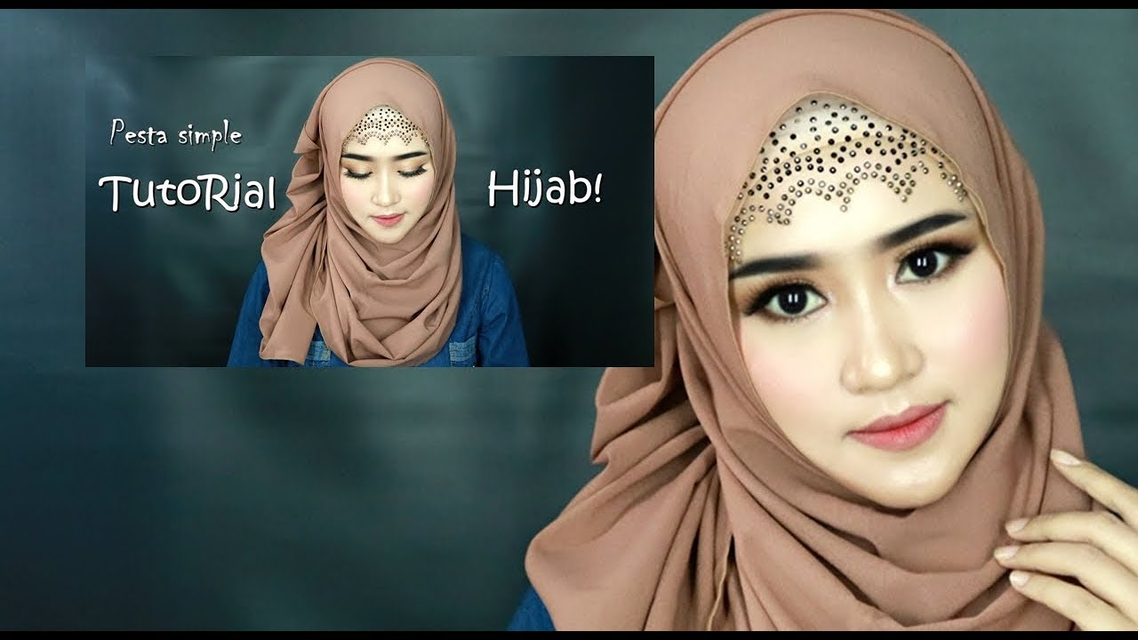 Hijab Pasmina Pesta Simple Menutup Dada Tren 2019 Cocok Buat Acara Pesta Resmi Youtube