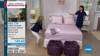 1000 Thread Count 6piece Easy Care Sheet Set