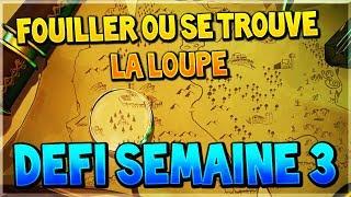 """""""FOUILLER LA OU SE TROUVE LA LOUPE SUR L'ECRAN DE CHARGEMENT CARTE AU TRESOR"""" sur FORTNITE !"""