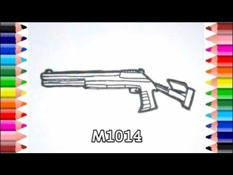 Cara Menggambar Senjata Tembak M1014 Di Game Free Fire Youtube