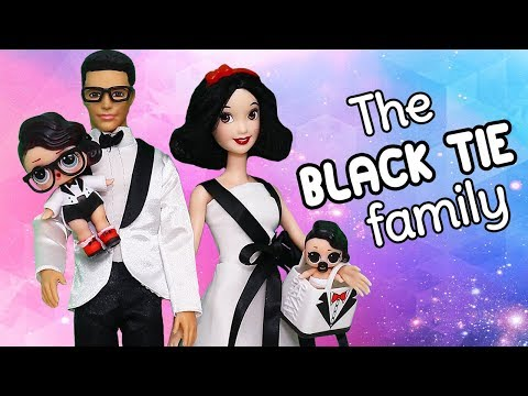 Barbie LOL Families ! Meet the Black Tie Family & Opening Boxy Girls Toys and Dolls for Kids | SWTAD