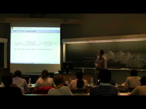 Rui Hu: Statistical Methods in Bioinformatics (2012 CBIM Summer School)