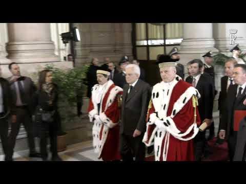 Corte Suprema di Cassazione - Mattarella interviene all'inaugurazione dell'anno giudiziario