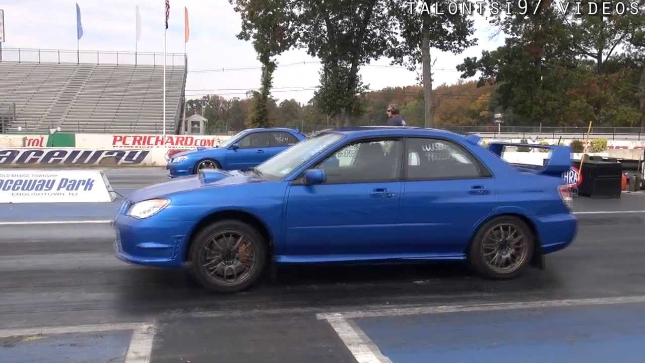 Evo Vs. WRX/STI 2013 GTR SHOOTOUT Raceway Park - YouTube