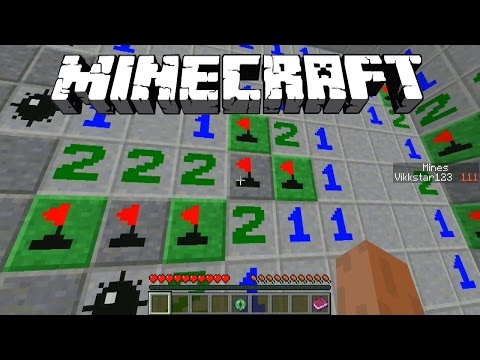 Minecraft Mini-Game: MINESWEEPER 3D with Vikkstar123 (Minecraft 1.8 Puzzle Game)