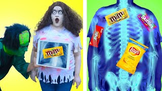 9 FUNNY ZOMBIE WAYS TO SNEAK SNACKS AND FOOD INTO THE MOVIES  CRAZY TIPS AND TRICKS BY CRAFTY HACKS