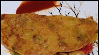 Whole wheat vegetable chilla | Healthy Breakfast recipe | आटे का चीला