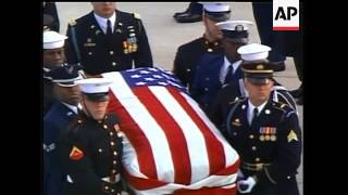 The state funeral for Gerald R. Ford arrived in Grand Rapids, Michigan Tuesday. The marching band fr