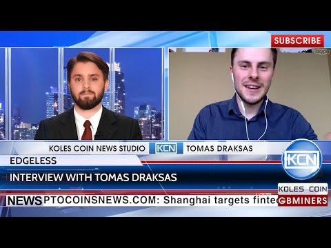 KCN NEWS: Interview with Tomas Draksas, Co-Founder of Edgeless Casino