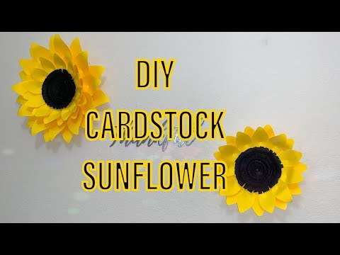 DIY paper sunflowers Thanksgiving decor