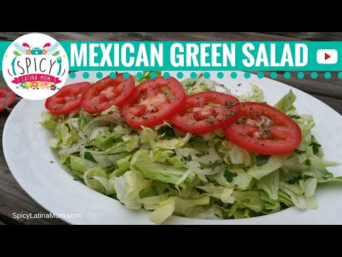 Easy Green Salad Recipe | Mexican Food - Spicy Latina Mom