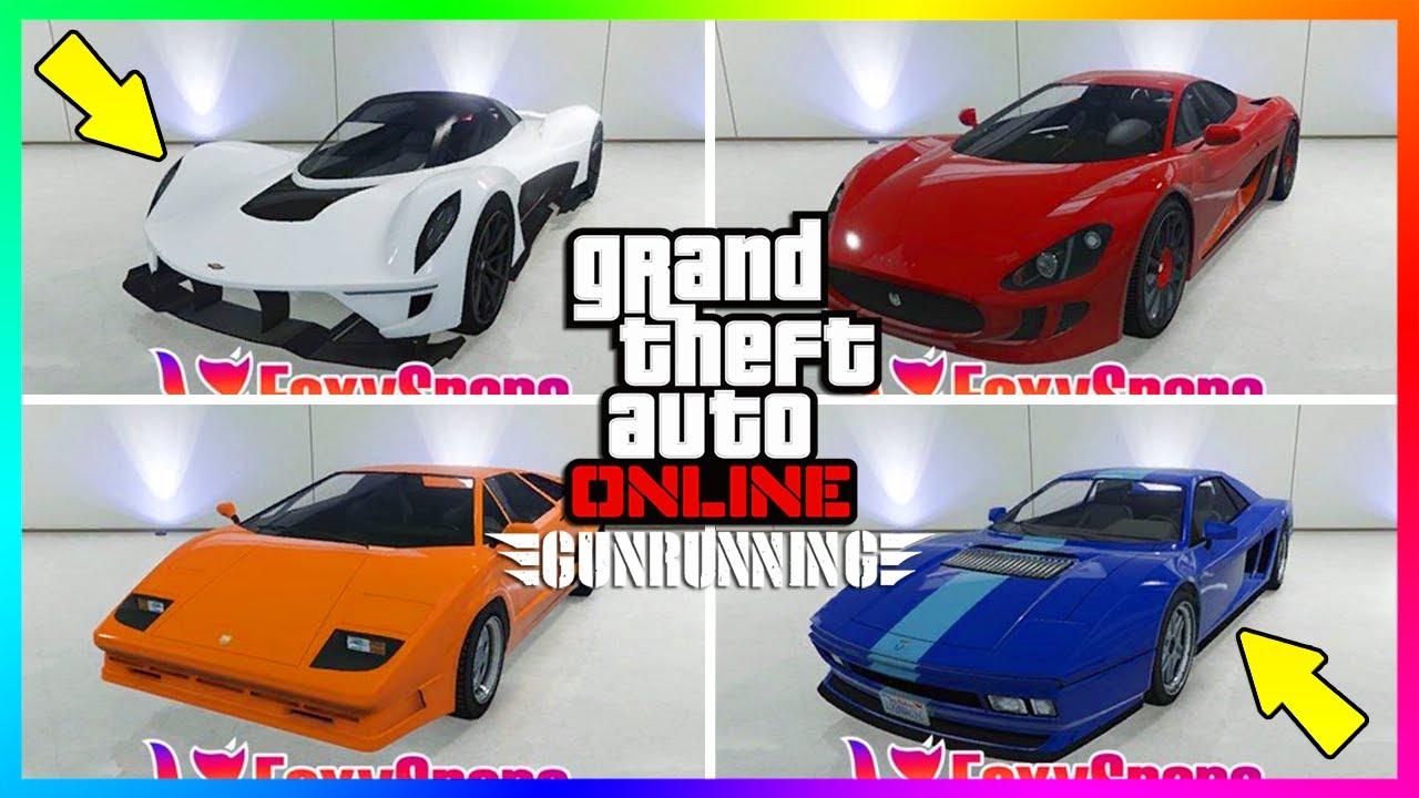 Gta Online Gunrunning Dlc All Unreleased Vehicles New Super Cars
