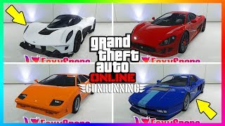 GTA ONLINE GUNRUNNING DLC ALL UNRELEASED VEHICLES - NEW SUPER CARS, PRICES, RELEASE & MORE! (GTA 5) thumbnail
