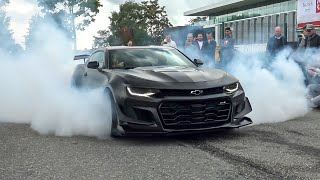 Chevrolet Camaro ZL1 with MagnaFlow Exhaust - CRAZY Burnouts, Donuts & Accelerations !