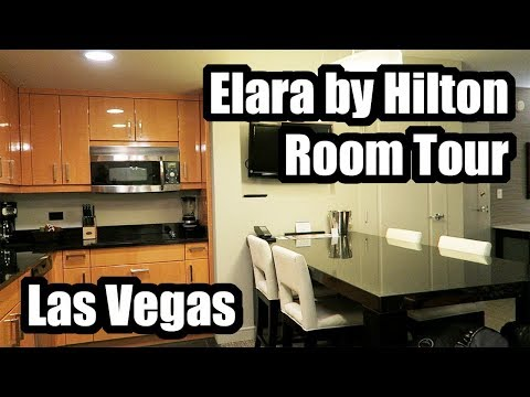 ELARA by HILTON GRAND VACATIONS 1 BEDROOM KING SUITE ROOM TOUR in LAS VEGAS, NEVADA!