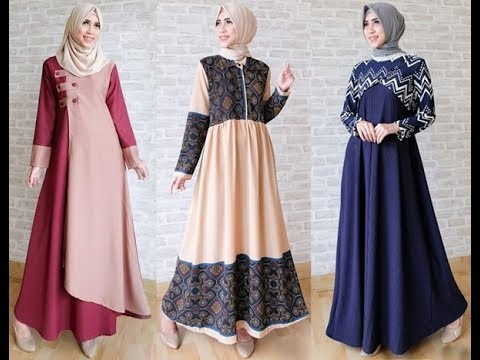 Trend Model Baju Muslim Lebaran 2018 Casual Simple dan Modern  YouTube