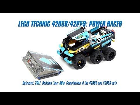 LEGO Technic 42058/42059: Power Racer Speed Build & Review [4K]