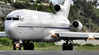 Boeing 727 Takeoff (Very LOUD Engines!!!!!!!! ) at Princess Juliana International Airport (HD1080p)
