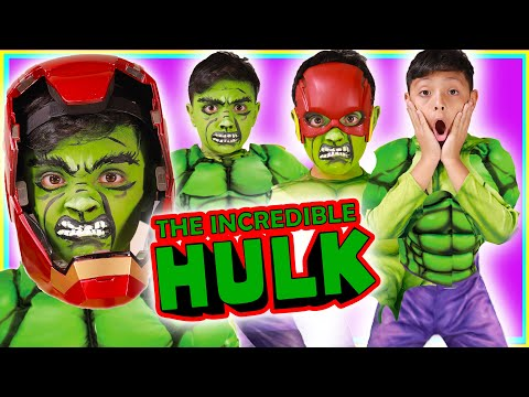Avengers Hulk  iron man Face Paint kids Costume halloween 2019 spiderman Andrew Toy Channel
