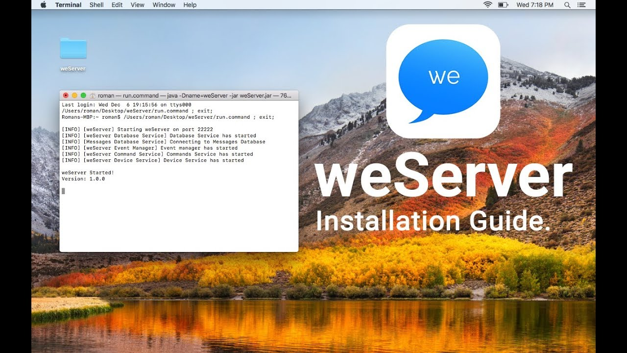 weMessage Installation - How to Get iMessage on Android