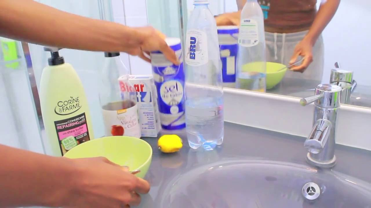 Cheveux Secs Et Ternes Shampoing Clarifiant Bicarbonate De Soude Et Vinaigre De Cidre Youtube