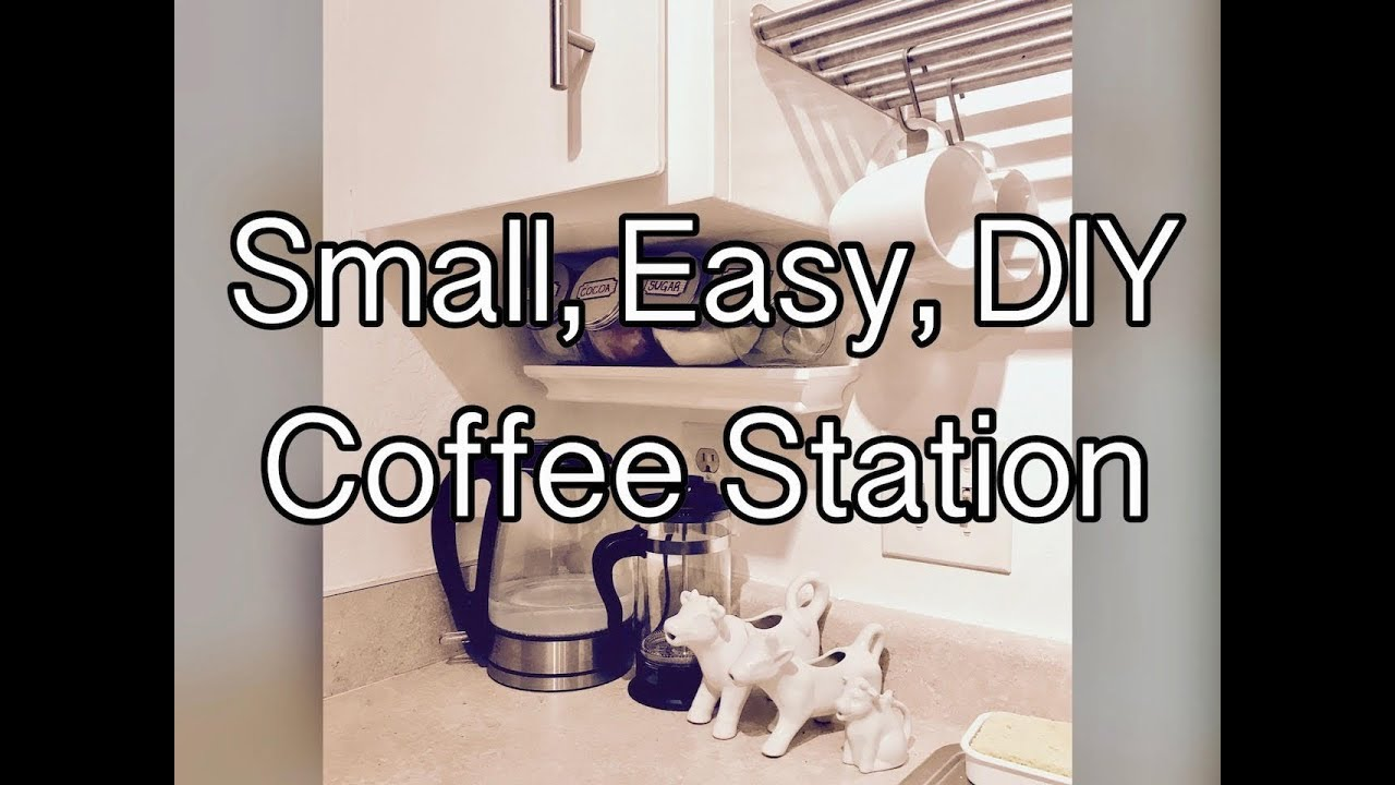 Tiny Craftsman Comes With Espresso Station: Small, Easy, DIY Coffee Station (Small Kitchen)