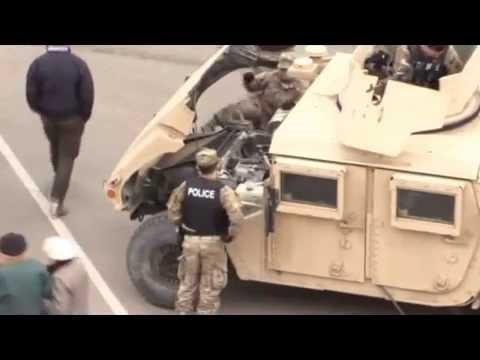 Americans demonstrate military vehicles for civil, Estonia