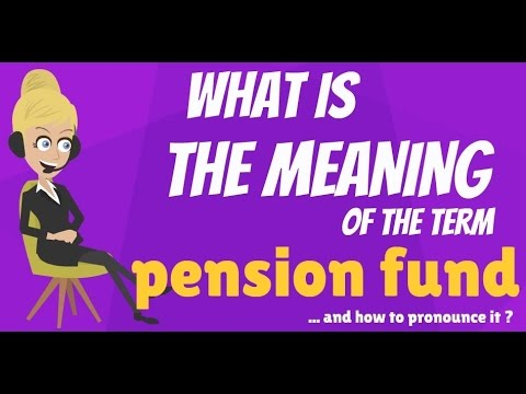 What is PENSION FUND? What does PENSION FUND mean? PENSION FUND meaning & explanation