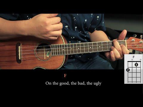 Never Shout Never - Happy UKULELE Tutorial (HD)