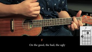Never Shout Never - Happy UKULELE Tutorial (HD)