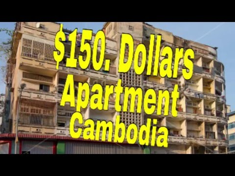 $150. Apartment expat RETIRE In Phnom Penh Cambodia Asia enjoying Khmer Retirement lifestyle.