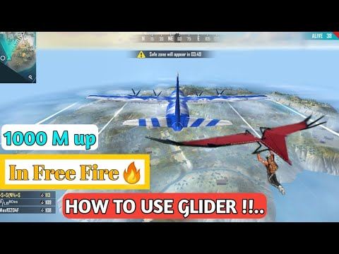 HOW TO USE GLIDER IN FREE FIRE🔥. Free fire🔥 में glider कैसे use करें. By tech lx boy.
