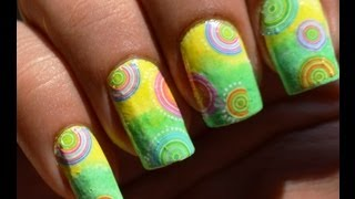 Concentric Circles: A Water Nail Art Decals Tutorial!