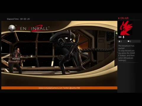 (PS4) Zen Pinball 2: Alien Isolation - First Look