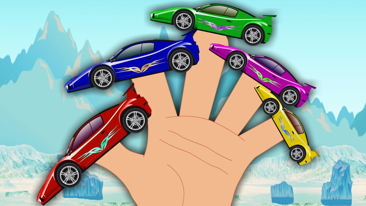 sports car finger family songs for kids youtube