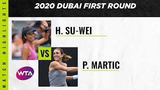 Hsieh Su-wei vs. Petra Martic | 2020 Dubai First Round | WTA Highlights