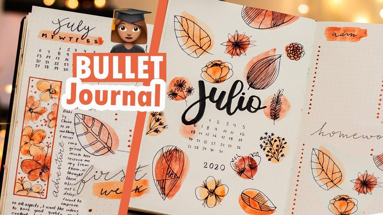 PLANEA CONMIGO JULIO 2020 - BULLET JOURNAL PARA ESTUDIANTES - PLAN WITH WE JULY