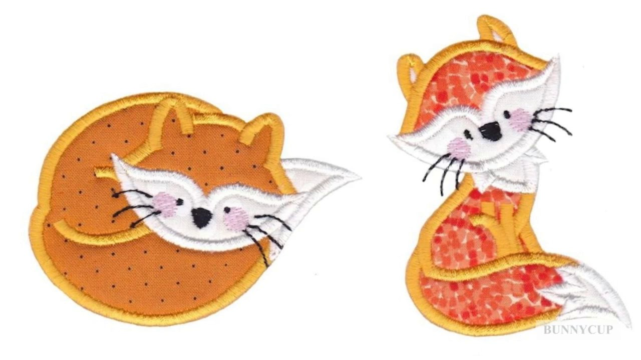Foxy Applique Embroidery Designs Youtube