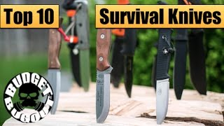 Top 10 Best Survival Knives | Best Fixed Blades For Survival & Bushcraft -- Budget Bugout 2015