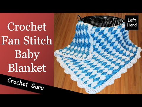 V Stitch Baby Blanket Crochet Pattern